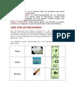 Halogenos y Elementos de Transicion