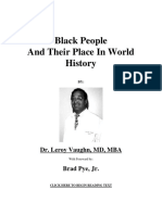 Black People and Thier Place in World History