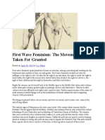 First Wave Feminism_The Movement That is Taken for Granted