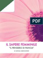 eBook Il Sapere Femminile Il Pensiero Di Pancia Simona Oberhammer Cmp
