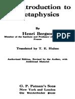 Bergson, Henri - An Introduction to Metaphysics (Putnam, 1912).pdf