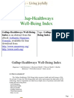Gallup Health Ways Well Being Index