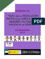 Guía Para La Resolución Pacífica de Conflictos en Menores Víctimas de Violencia de Género