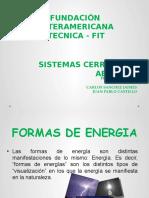 Sistemas Termodinamicos Abiertos y Cerrados .