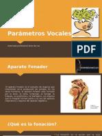 Parámetros Vocales