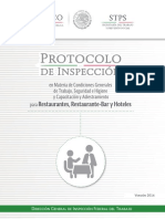 Protocolo Restaurantes Bares y Hoteles STPS