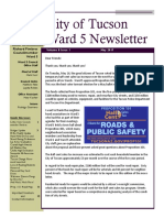 Ward 5 Councilmember Richard Fimbres Newsletter - May 2017