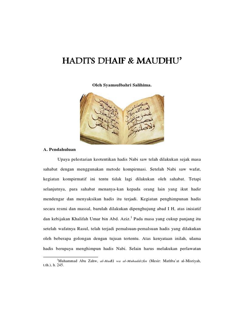 Artikel Hadits Dhaif Maudhu Pdf
