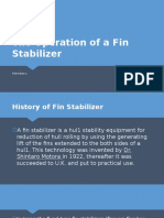 The Operation of a Fin Stabilizer