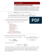 Derivation of Root Locus Rules
