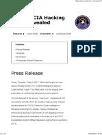 Wikileaks CIA Espionage 2