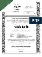 Undangan Yasin Tahlil