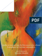 Mythes Et Erotismes Dans Les Litteratures Et Les Cultures Francophones de l'Extreme Contemporain - Rodopi