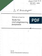 BS 1377 1975 Soil for Civil Engineering Works