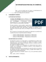 Determinacion de Porcentaje en Peso Del Hcl Comercial