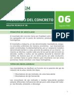 Boletin 06 Mezclado de Concreto