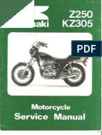 kawasaki kz 250 - 305 '79 a '82 - service manual