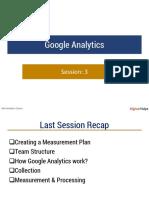 Google Analytics Session 3