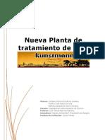 Informe Nueva Planta de Tratamiento de Riles