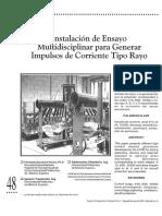 Instalacion de Ensayo Multidisciplinar Para Generar Impulsos de Corriente Tipo Rayo