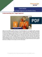 Transcription_Identifying Target Segment and Market Sizing