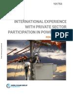 101753 WP P146042 Box393265B PUBLIC Private Sector Participation in Power Grids Peru