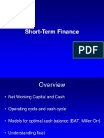 Notes on Short-term Finance