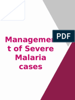 Management of Severe Malaria Cases