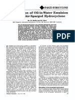 Concentration of Oil-In-water Emulsion Using the Air-sparged Hydrocyclone