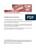 China Sourcing Update Raw Material Prices Hard Goods MAR 2017