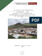 Plan de Seguridad Ciudadana Del distrito de Combapata - Canchis - Peru