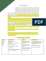 positive planning matrix standard 1