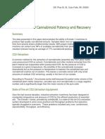 ExtraktLAB 110 Cannabinoid Potency and Recovery