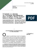 Artigo Boaventura Souza Santos O Estado e o Direito na Transição Pós-Moderna.pdf