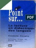 Texte Cornaire Lecture en LM Ch 2 1991