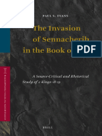 Supplements to Vetus Testamentum - Invasion of Sennacherib in the Book of Kings a Source Critical and Rhetorical Study of 2 Kings 1