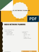 Radio Network Planning Assesment