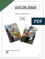 rapport de stage cuisinier