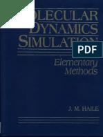 J. M. Haile Molecular Dynamics Simulation Elementary Methods 1992