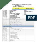 Jadwal Acara Komunikasi Efektis Dalam Keselamatan Pasien