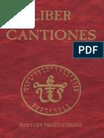 DSA - 4Ed - Das Schwarze Auge Regelbuch Spielhilfe Liber Cantiones Deluxe
