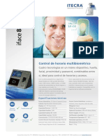 Ficha Técnica IFace 800 Biométrico Facial