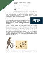 Origen y Evolucion Del Ser Humano Clase 3.Docx