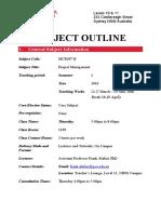 (MCR007 B) Project Management - subject outline.pdf