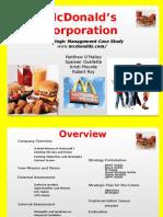 Strategic Management complete project on McDonald