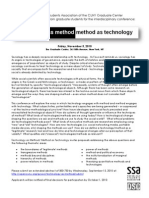 technology as method/method as technology