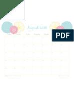 August Free Calendar