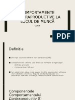 6  - Comportamentele Contraproductive