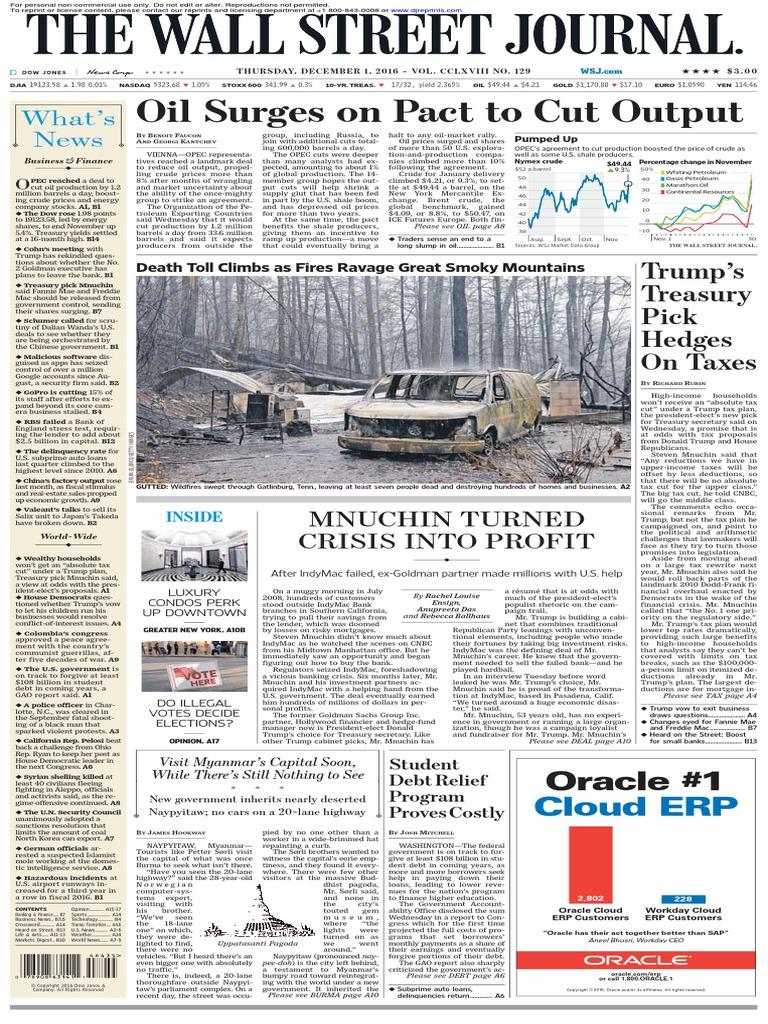 8254df8b5 Wallstreetjournal 20161201 the Wall Street Journal | Indy Mac | Euro