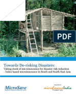 Bhat, S. and Mukherjee, P. (2013). Towards De-Risking Disasters. MicroSave.pdf
